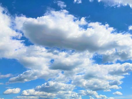 Blue sky and clouds on a sunny day