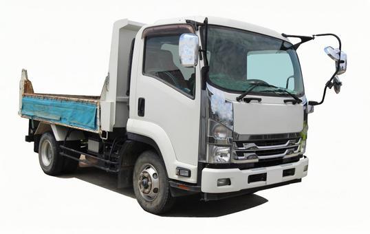 Dump truck (PSD / cutout)