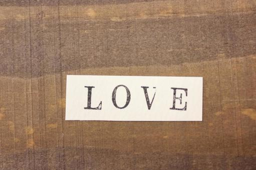 Message card LOVE