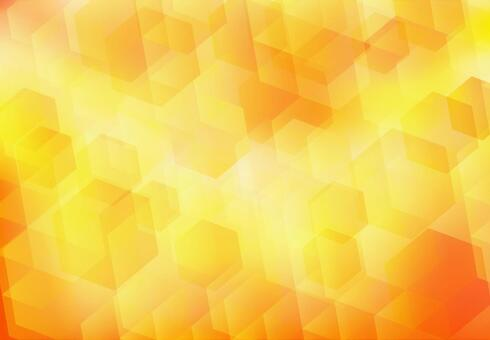 Orange hexagon abstract background texture material