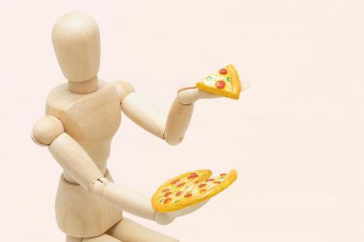 ピザを食べてダイエットができない人(左配置・ピンク背景)