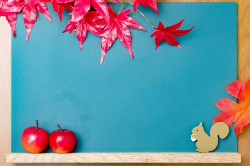 Blackboard frame for apples and squirrels