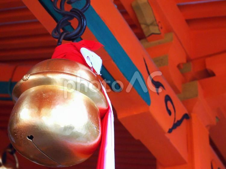伏見稲荷神社の鈴の写真