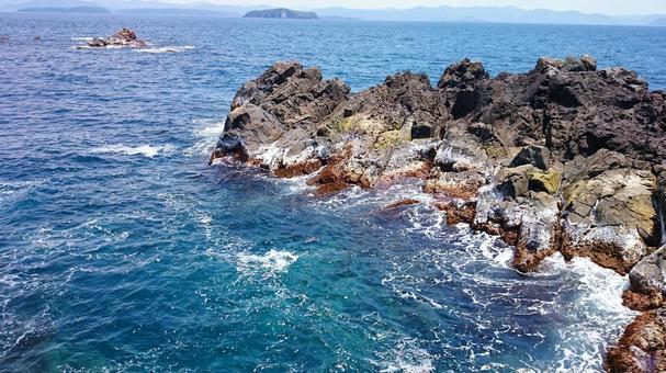 일본해에 떠있는 야마구치 현하기시 아이 시마의 비경 02