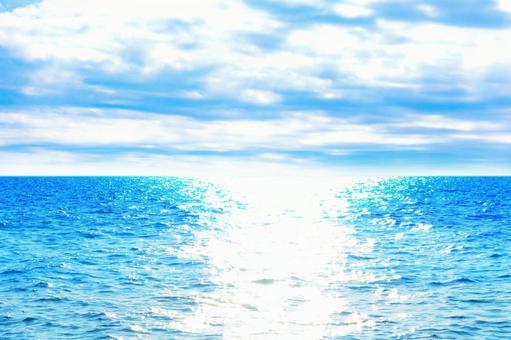 Blue sea blue sky beautiful sea summer image