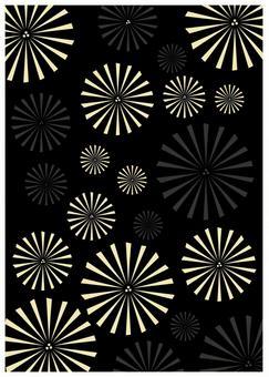 Japanese pattern texture fireworks