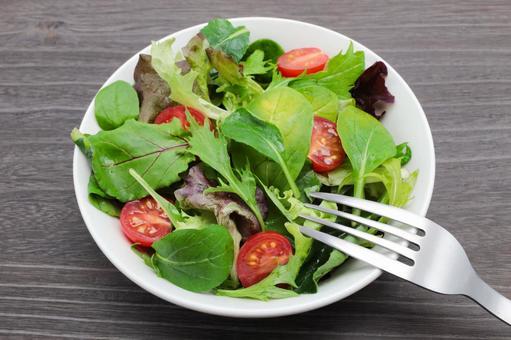 Baby leaf salad diet vegetable salad
