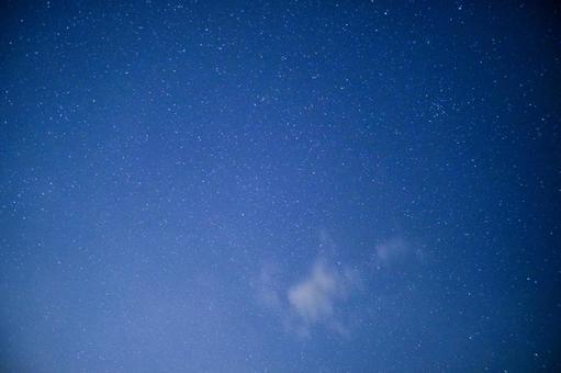 Spring starry sky