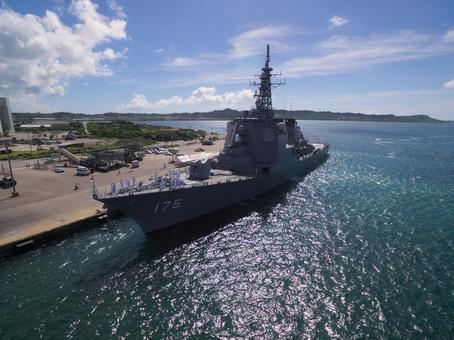 "The Aegis escort ship ""Maruyo"" of the Maritime Self Defense Force"
