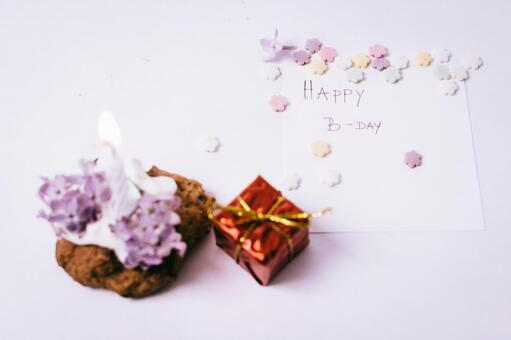 Birthday cards and star sweets with gifts 2