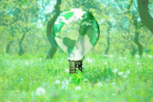 Light bulb in nature 3