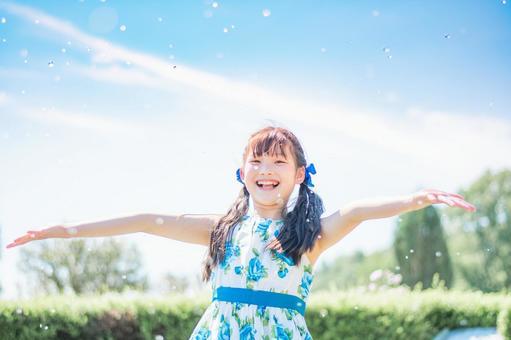 Splash and girl