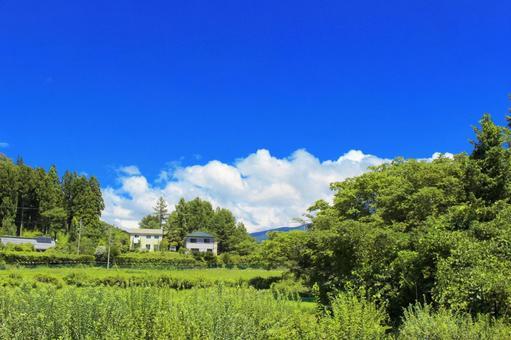 日本的夏天美麗的山ri 2
