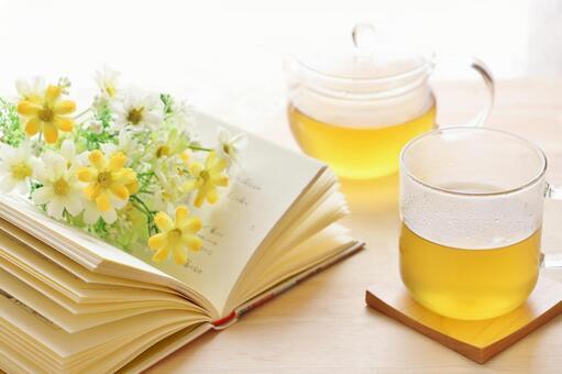 Books and herbal teas