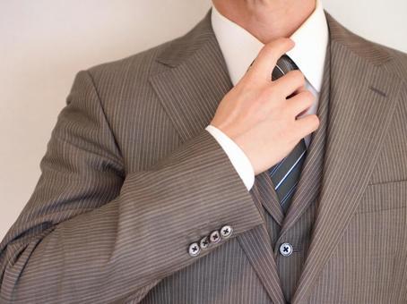 Businessman 【Businessman who tightens a necktie】