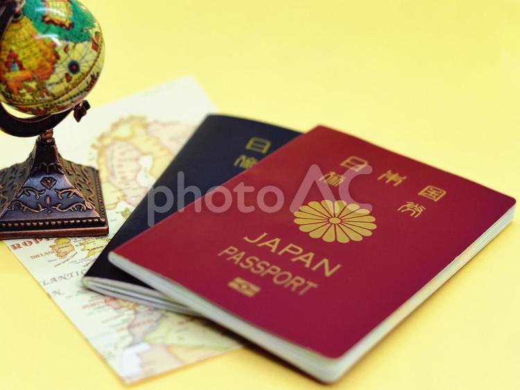 パスポートと海外旅行のイメージの写真