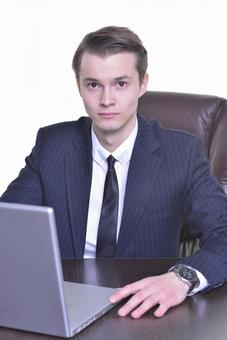 Businessman using a personal computer 1
