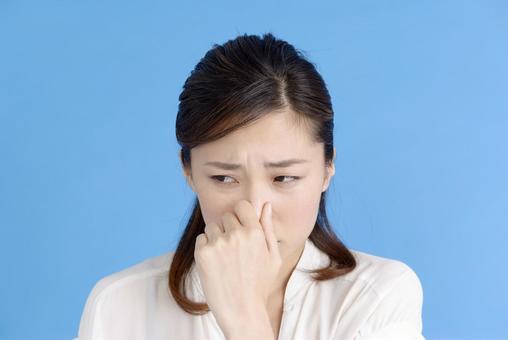Woman picking nose 3