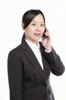 Female with phone 4
