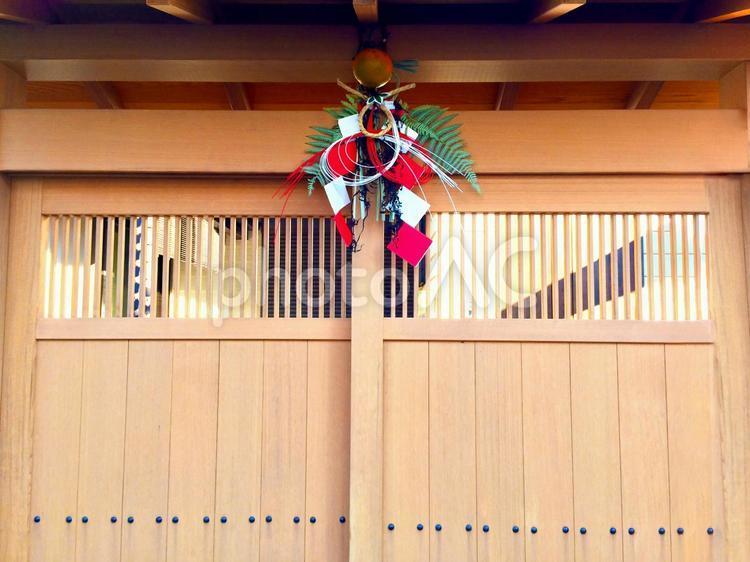 玄関 正月飾りの写真