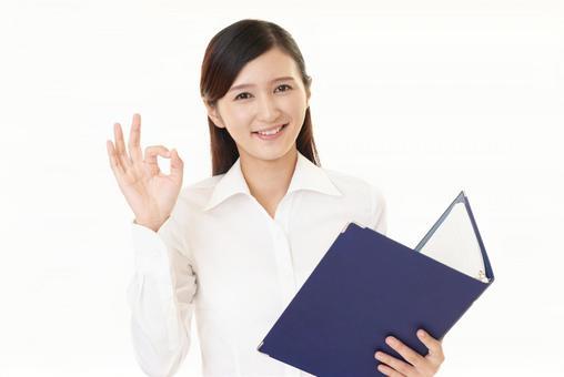 Female OK gesture