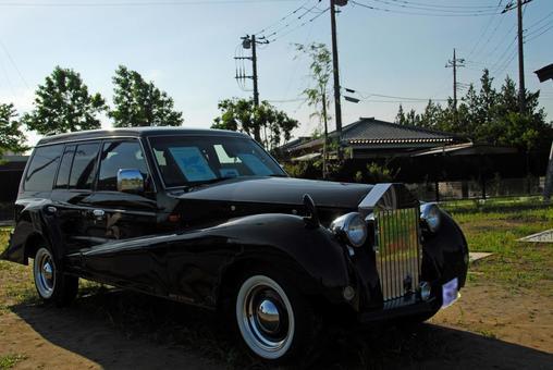 这是一辆经典的汽车!镇的官方车辆