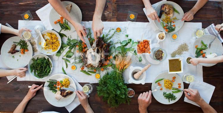 食事風景130の写真
