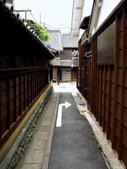 Scenery with arrow
