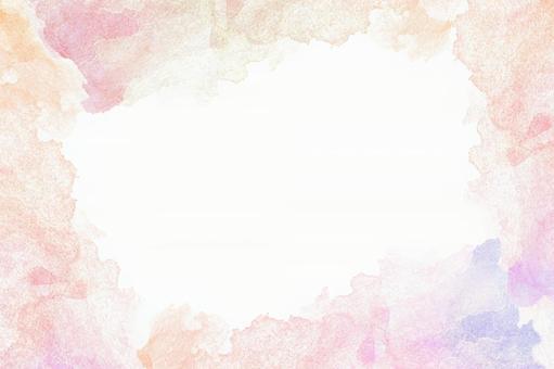 칼라의 그라데이션 프레임 핑크 계열