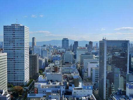 오사카의 고층 빌딩 2 혼