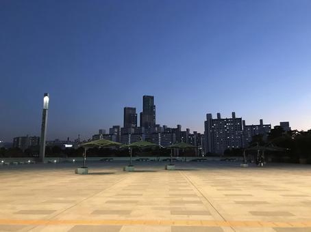 韓國藍色建築