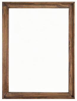 Antique wood frame frame