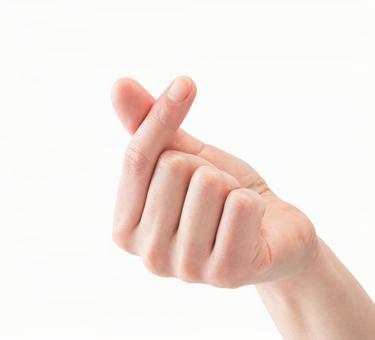 Kyun (PSD cutout material) Male hand