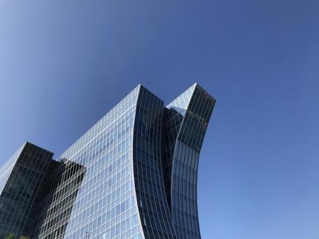 고층 빌딩과 푸른 하늘, 비즈니스 이미지