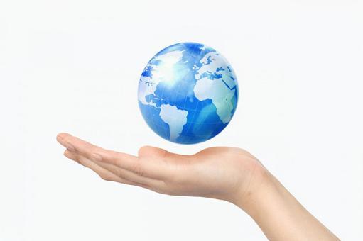 Hand and globe 4
