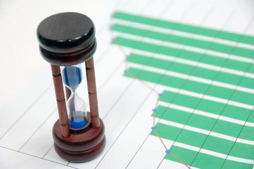 Business image-hourglass and graph