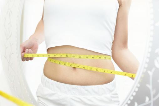 Female diet image to measure waist