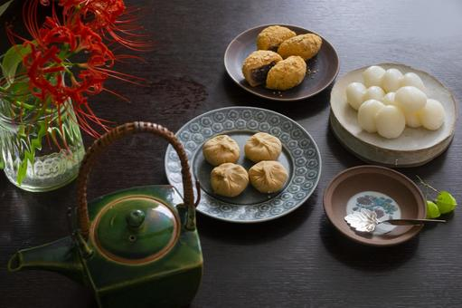 Autumn Japanese sweets