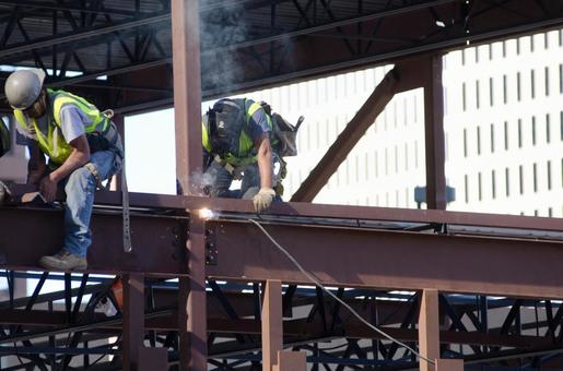 Worker performing construction work 5