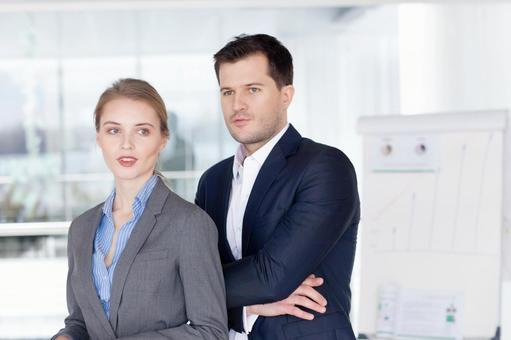 Businessman and business woman 1