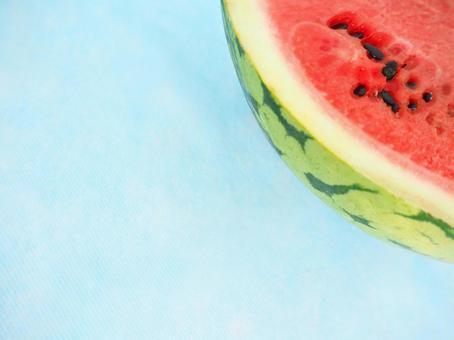 夏季形象西瓜壁紙材質淺藍色背景