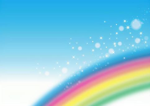 Rainbow, sky and glitter background texture 0511