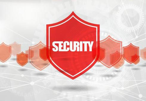 Cyberspace security image white background