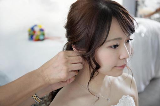 Wedding resort wedding makeup