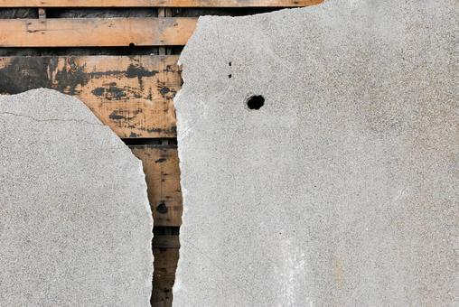 균열 박격포 벽