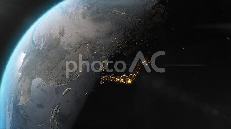 日本列島のイルミネーションの写真