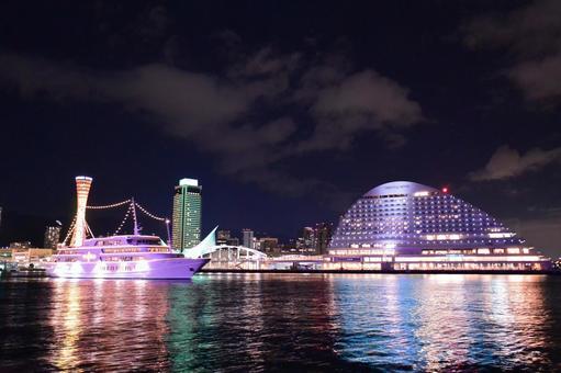 Night view of Kobe port 2