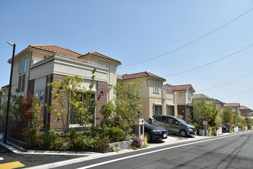 Cityscape residential detached house