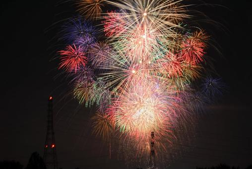 The fireworks show is luxurious and gorgeous