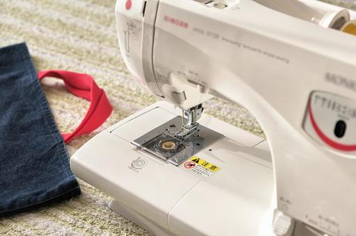 Sewing machine and handmade handbags Admission preparation Sewing (sewing) Image material